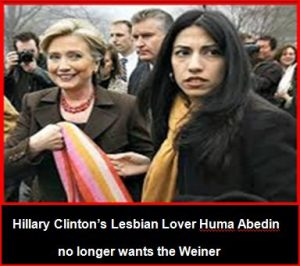 Hillary-Clinton-Lebian-Lover-Huma-Abedin-No-Longer-wants-the-Weiner